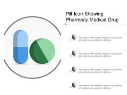 Pill Icon Showing Pharmacy Medical Drug