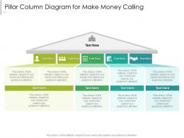 Pillar Column Diagram For Make Money Calling Infographic Template