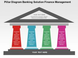 Pillar Diagram Banking Solution Finance Management Flat Powerpoint Design