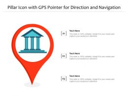 Pillar Icon With GPS Pointer For Direction And Navigation