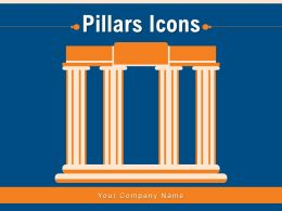Pillars Icons Corporate Financial Administrative Navigation Architectural