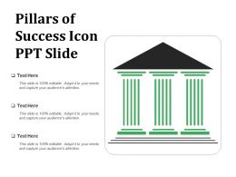 Pillars Of Success Icon Ppt Slide