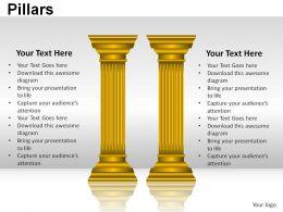 Pillars Powerpoint Presentation Slides