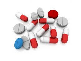 Pills And Capsules For Medical Usage Stock Photo