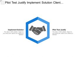 Pilot Test Justify Implement Solution Client Relationship Manager