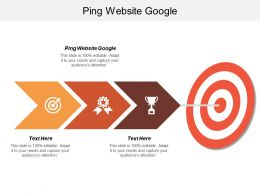 Ping Website Google Ppt Powerpoint Presentation Gallery Samples Cpb