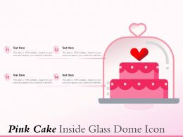 Pink Cake Inside Glass Dome Icon