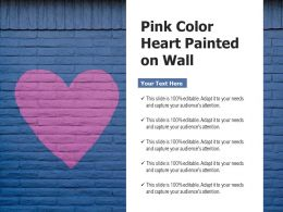Pink Color Heart Painted On Wall