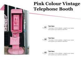 Pink Colour Vintage Telephone Booth