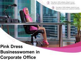 Pink Dress Businesswomen In Corporate Office