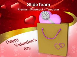Pink Heart With Shopping Bag Valentines Day PowerPoint Templates PPT Themes And Graphics 0213