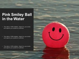 Pink Smiley Ball In The Water