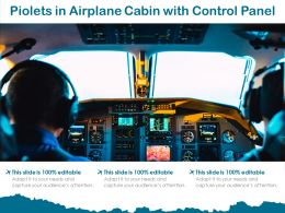 Piolets In Airplane Cabin With Control Panel
