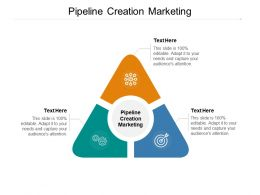 Pipeline Creation Marketing Ppt Powerpoint Presentation Inspiration Gridlines Cpb