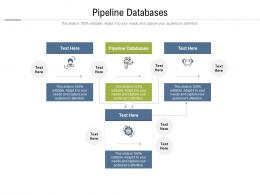 Pipeline Databases Ppt Powerpoint Presentation Icon Diagrams Cpb