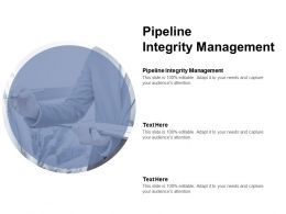 Pipeline Integrity Management Ppt Powerpoint Presentation Infographics Layout Cpb