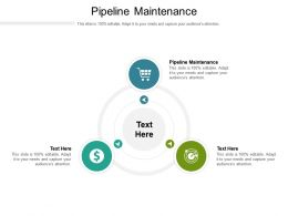 Pipeline Maintenance Ppt Powerpoint Presentation Infographics Master Slide Cpb