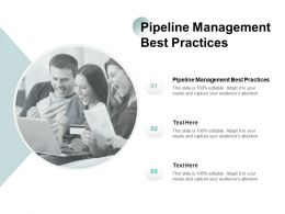 Pipeline Management Best Practices Ppt Powerpoint Presentation Professional Backgrounds Cpb