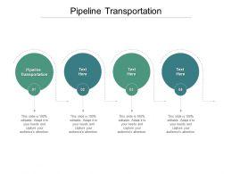 Pipeline Transportation Ppt Powerpoint Presentation Slides Design Inspiration Cpb
