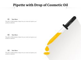 Pipette With Drop Of Cosmetic Oil