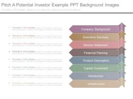 Pitch A Potential Investor Example Ppt Background Images
