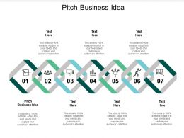 Pitch Business Idea Ppt Powerpoint Presentation Gallery Rules Cpb