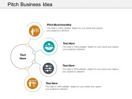 Pitch Business Idea Ppt Powerpoint Presentation Gallery Tips Cpb