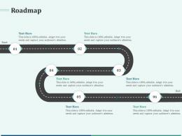 Pitch Deck For Early Stage Funding Roadmap Ppt Gallery Visuals