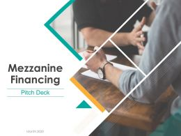 Pitch Deck For Mezzanine Financing Powerpoint Presentation Slides
