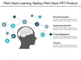 Pitch Deck Learning Start Up Pitch Deck Ppt Product Engagement Cpb