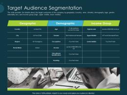 Pitch Deck Raise Funding Pre Seed Capital Target Audience Segmentation Ppt Styles