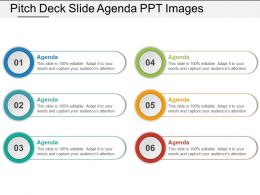 Pitch Deck Slide Agenda Ppt Images