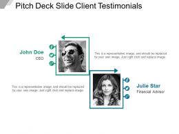 Pitch Deck Slide Client Testimonials Powerpoint Ideas