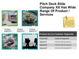 Pitch Deck Slide Company Xx Has Wide Range Of Product Services Powerpoint Images