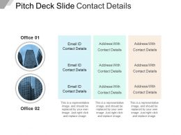Pitch Deck Slide Contact Details Powerpoint Shapes