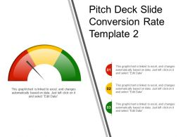 Pitch Deck Slide Conversion Rate Template 2 Ppt Diagrams