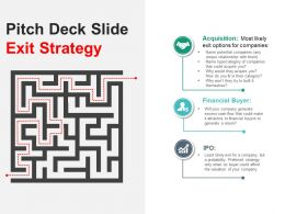 Pitch Deck Slide Exit Strategy Presentation Deck