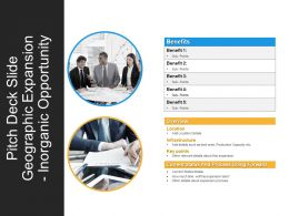 Pitch Deck Slide Geographic Expansion Inorganic Opportunity PPT Background