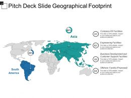Pitch Deck Slide Geographical Footprint Ppt Design