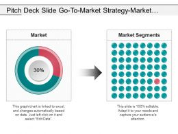 Pitch Deck Slide Go To Market Strategy Market Segmentation Presentation Images