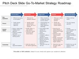 Pitch Deck Slide Gotomarket Strategy Roadmap 1 Presentation Graphics