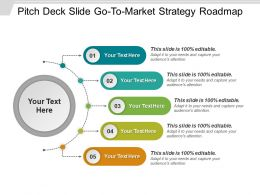 Pitch Deck Slide Gotomarket Strategy Roadmap Presentation Ideas