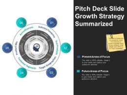 Pitch Deck Slide Growth Strategy Summarized Ppt Example