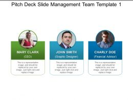 Pitch Deck Slide Management Team Template 1 Presentation Outline