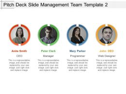 Pitch Deck Slide Management Team Template 2 Ppt Slides