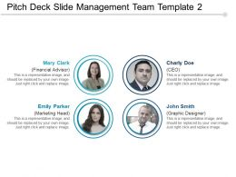 Pitch Deck Slide Management Team Template 2 Presentation Pictures