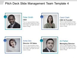 Pitch Deck Slide Management Team Template 4 Presentation Deck