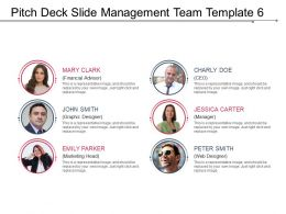 Pitch Deck Slide Management Team Template 6 Example Of Ppt