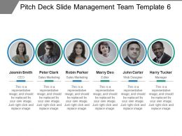 Pitch Deck Slide Management Team Template 6 Presentation Diagrams
