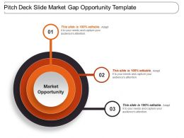 Pitch Deck Slide Market Gap Opportunity Template 1 Presentation Examples